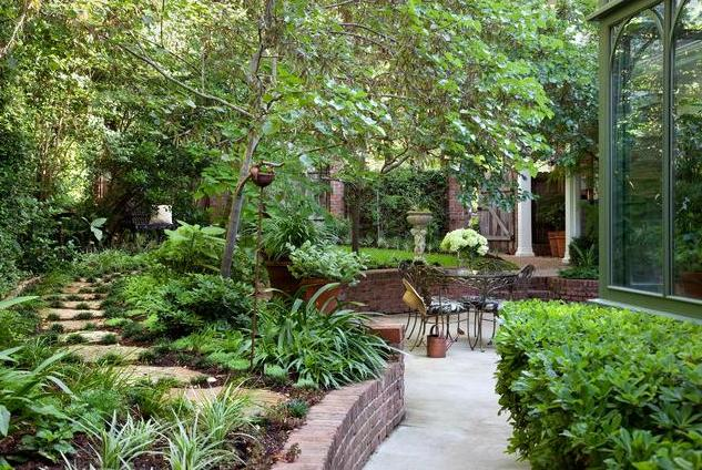 fotos jardins tropicais:jardim com gazebo