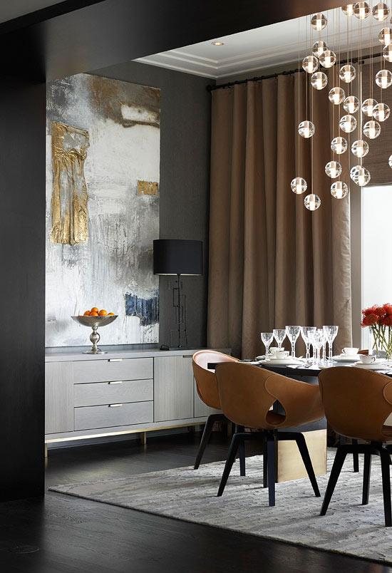 você tem medo de pintar as paredes de preto esta sala de jantar é um